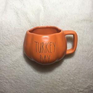 Rae Dunn LL TURKEY DAY Orange Pumpkin Mug NWT New